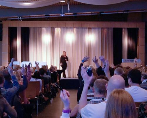 Engaged audience when Keynote Speaker Therese Gedda kicks-off her talk
